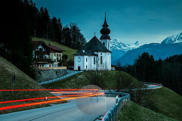Europe, Germany, Bavaria, Maria Gern. Wallfahrtskirche Maria Gern. Berchtesgadener Land