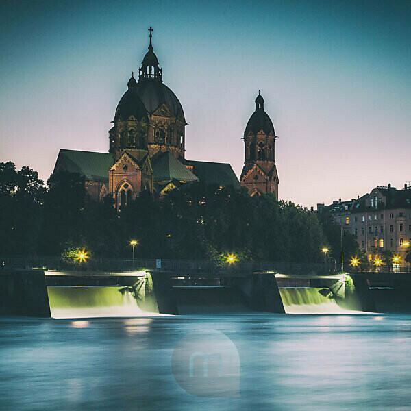 Germany, Bavaria, St. Luke's Church, Munich, City