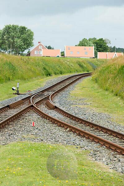 Germany, Lower Saxony, Eastern Friesland, Langeoog, island train of Langeoog, single-track narrow-gauge railway.