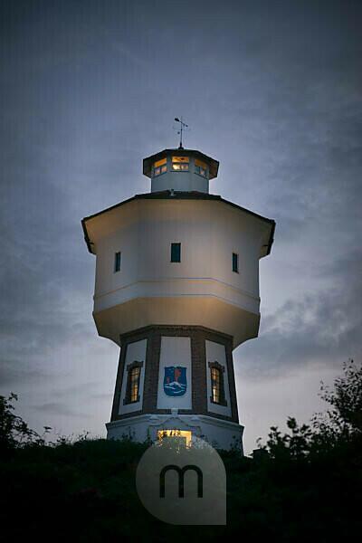 Germany, Lower Saxony, Eastern Friesland, Langeoog, the water tower of the island parish.