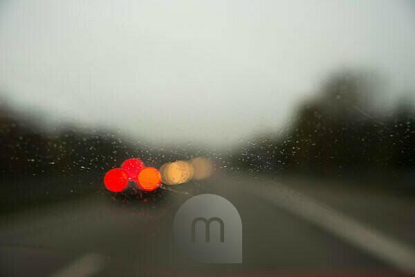 Straße, Verkehr, Autos, Rücklichter, Unschärfe