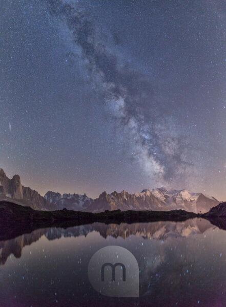 Milky Way. Monte Bianco. Lac Cheserys Haute Savoie France