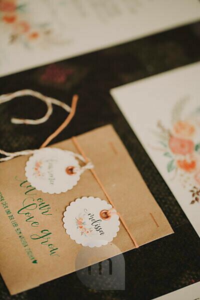 Alternative wedding, name card, Stilllife