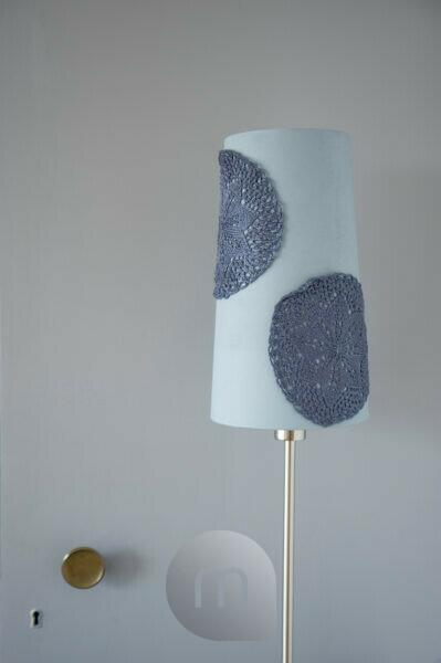 DIY lampshade with small crochet tablecloth