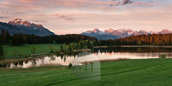 Hegratsrieder See, Allgäu, Ammergauer Alpen, Bayern, Deutschland