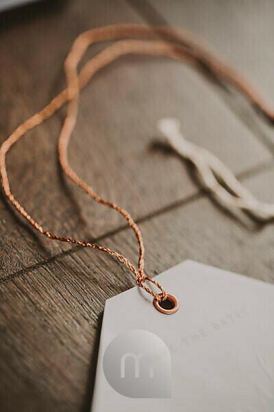 Save-the-date card, detail, cord, blur,