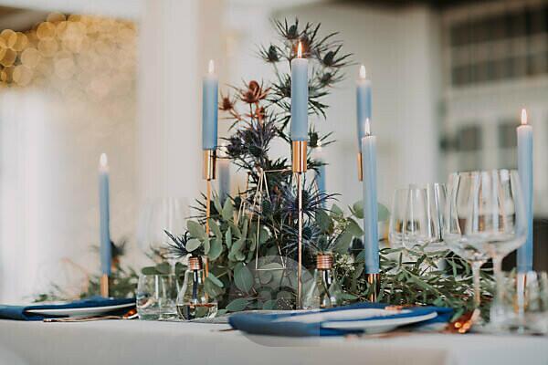 Wedding, laid table, detail, blur,