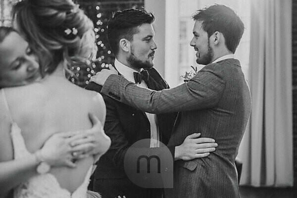 Wedding, newlyweds, guests, congratulations,
