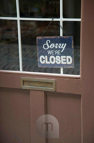Door sign in Gamla Stan