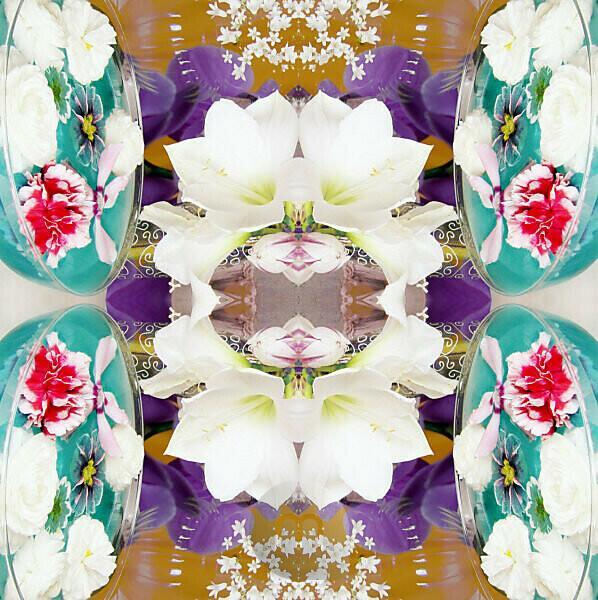 Flower Mandala, composing,