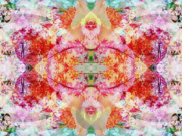 Flower mandala, composing, orange,