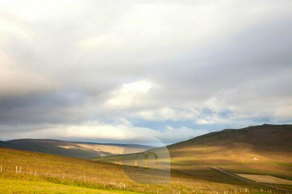 Hills, fields, Iceland, landscape