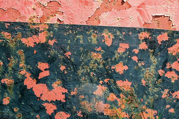 Brandenburg, Oder, old Oder barge, detail, colour, rust