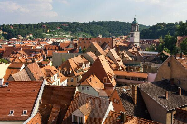 Elbe Cycletour, Saxony, Meissen, view from the cathedral square