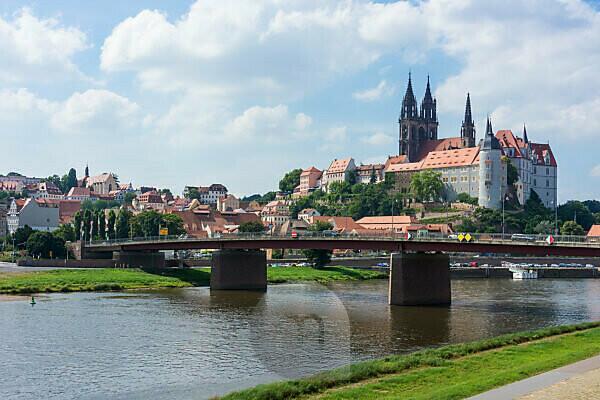Elbe-Radweg, Sachsen, Meißen, Altstadt, Meißner Dom, Albrechtsburg