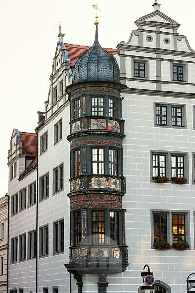 Elbe-Radweg, Sachsen, Torgau, historischer Marktplatz