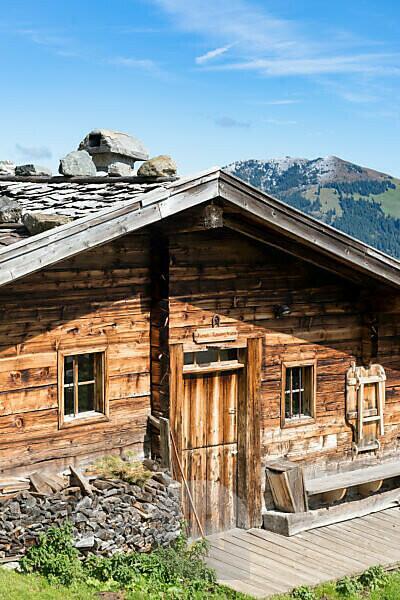 Austria, Tyrol, Alpbach valley, the Moser-Baumgartenalm below the Wiedersberger Horn.