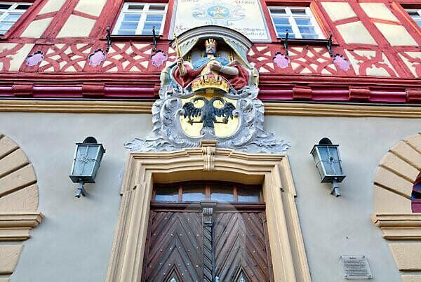 Rathaus, Hausfassade, Altstadt, Bad Staffelstein, Franken, Bayern, Deutschland, Europa,