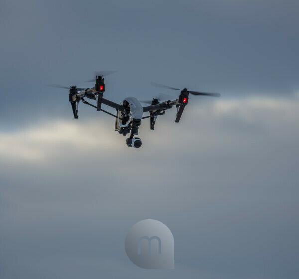 Radio controlled Drone with Camera. Eruption at the Holuhraun Fissure, Bardarbunga Volcano, Iceland
