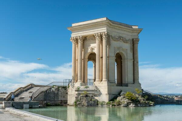 Montpellier, Herault, France, Water Tower Château d'Eau at Place Royale du Peyrou in the Languedoc-Roussillon region