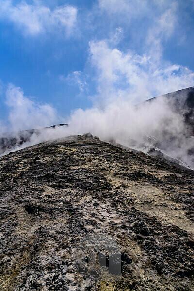 Italy, Sicily, Aeolian Islands, Vulcano, Gran Cratere, Fumarolen