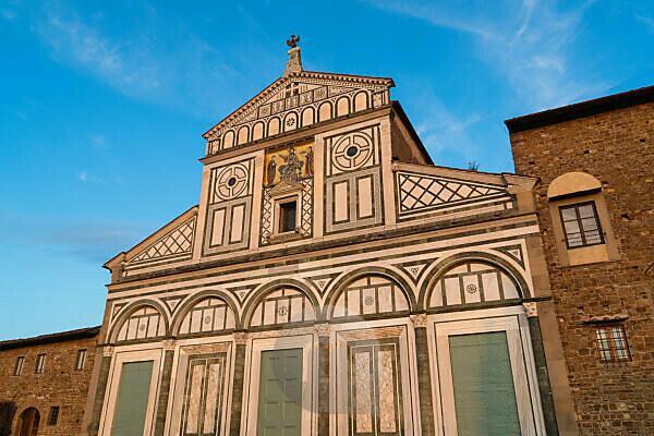 Florenz, San Miniato al Monte, Fassade im Abendlicht