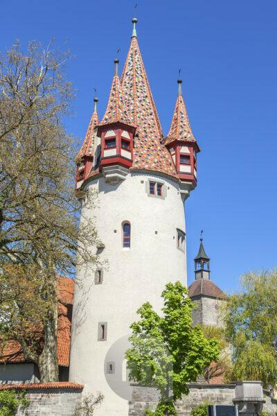 Thieves' Tower in the old town of Lindau at Lake Constance, Western Allgäu, Allgäu, Swabia, Bavaria, southern Germany, Germany, Europe