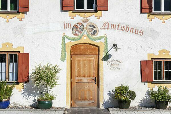 Preysingsches Amtshaus in Hohenaschau, Aschau im Chiemgau, Oberbayern, Bayern, Süddeutschland, Deutschland, Europa