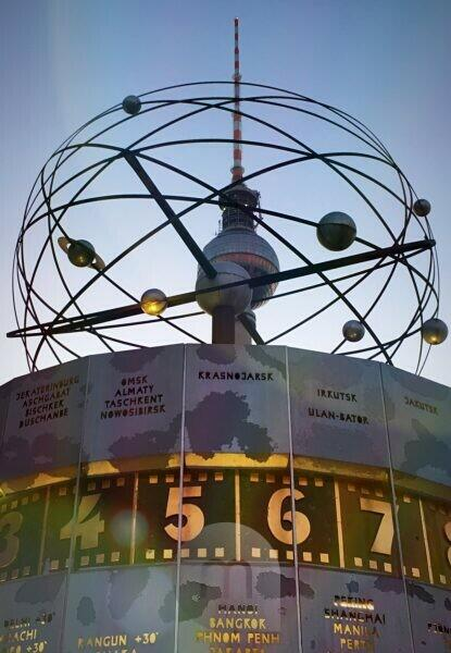 Germany, Berlin, Alexanderplatz, world clock