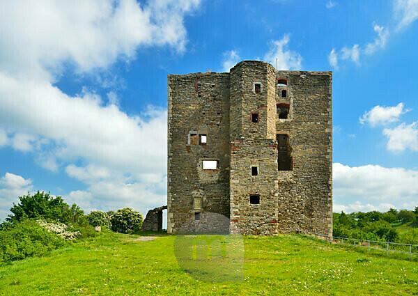Deutschland, Sachsen-Anhalt, Sylda, Ruine der Burg Arnstein