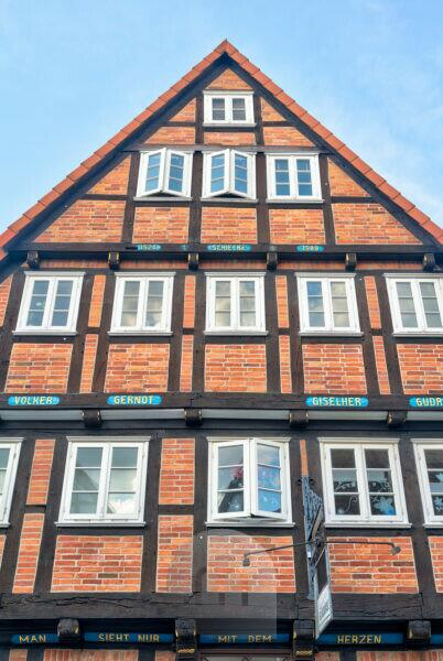 House view, Facade, half-timber, Old Town, Celle, Lower Saxony, Lüneburg heathland, Northern Germany, Germany, Europe