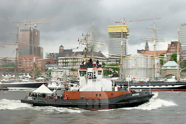 Elbe, ship, tugboat, harbor