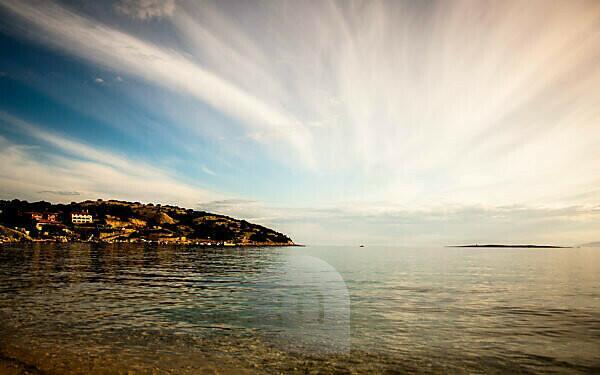 Croatia, Krk, beach of Baöka, Adriatic Sea, sea view