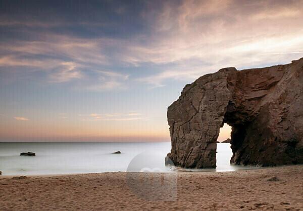 Rock gate near Port Blanc, Quiberon Peninsula, Brittany