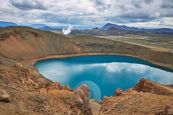 Island, Myvatn, Krafla Vulkanbereich, Ringstraße, Wandern am Askja See