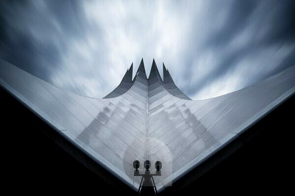 Roof of the Tempodrom with long exposure, Berlin, Germany