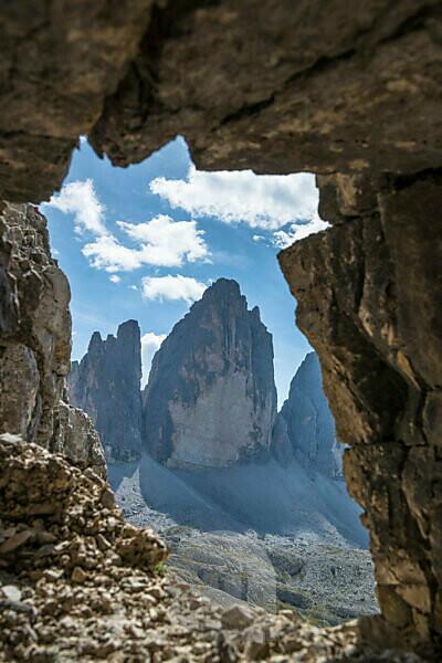 Drei Zinnen, Naturpark Drei Zinnen, Dolomiten, Südtirol, Italien