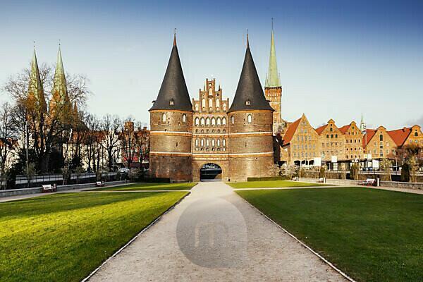 Holstentor, Lübeck, Schleswig-Holstein, Deutschland