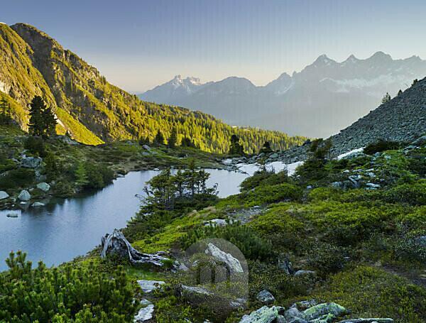 Mirror lake, Reiteralm, Dachstein, Ennstal, Styria, Austria