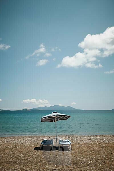 Beach on the island Kos, Greece,