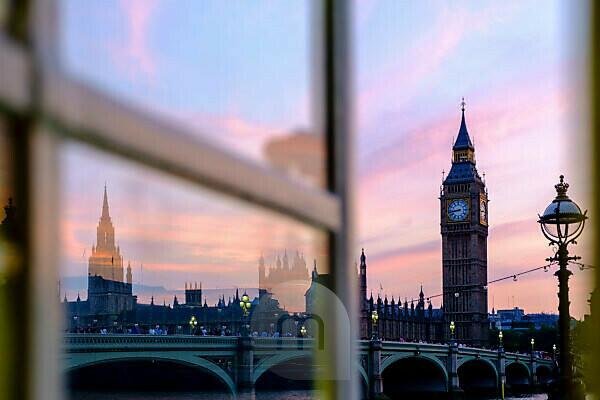 The Big Ben at the sunset, London, England, United Kingdom