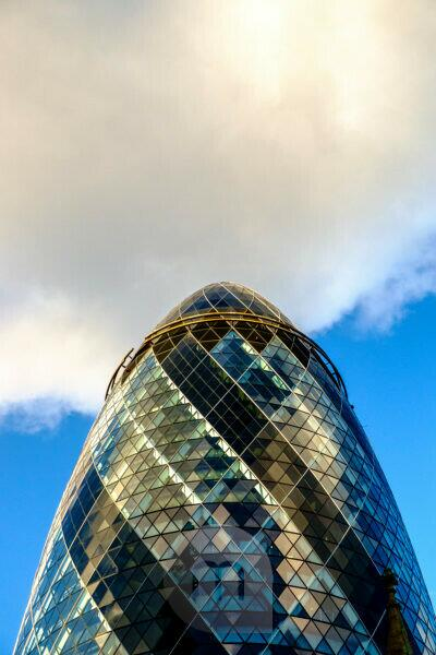 "30 St Mary Axe, known as ""The Gherkin"", London, England, United Kingdom"