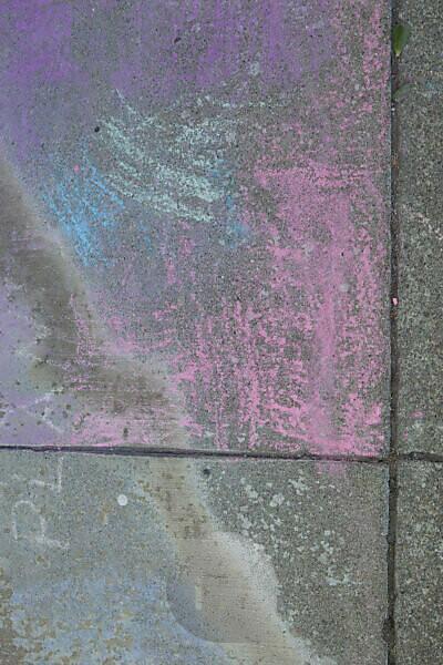 coloured sidewalk chalk