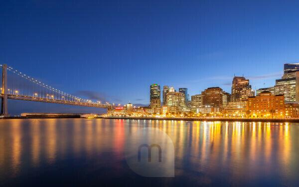 Bay Bridge, San Francisco skyline