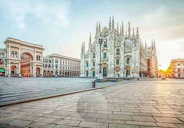 Milan Cathedral at sunrise