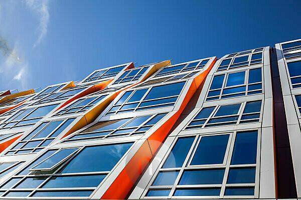 Modern architecture, facade, window front
