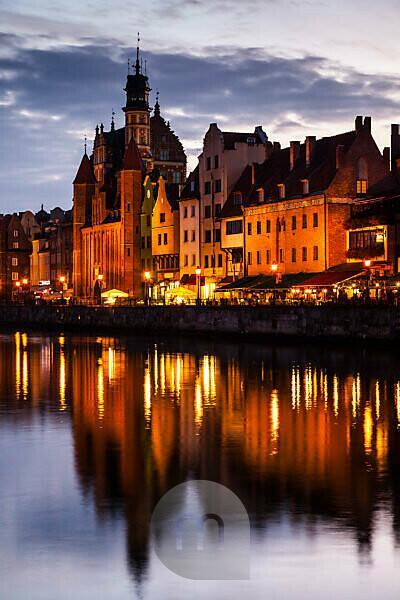 Europe, Poland, Pomerania, Gdansk / Danzig, Motlawa River