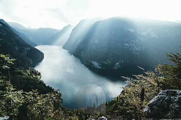 Germany, Bavaria, Berchtesgadener country, lake Königssee