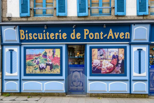 France, Brittany, Finistère Department, Pont-Aven, Biscuiterie