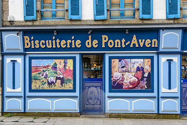 Frankreich, Bretagne, Finistère, Pont-Aven, Biscuiterie
